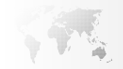Blank Grey Abstract World Map Template