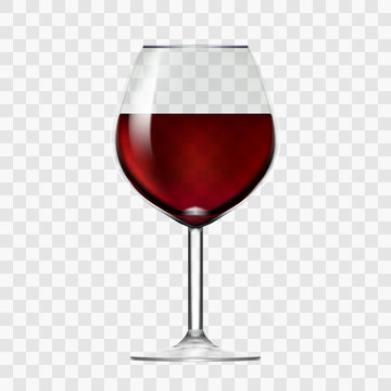 Transparent Wineglass With Red Wine