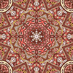 Abstract round ethnic mandala  pattern
