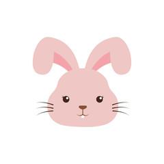cute rabbit kawaii style vector illustration design