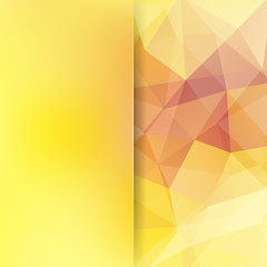 Abstract polygonal vector background. Yellow geometric vector illustration. Creative design template. Abstract vector background for use in design