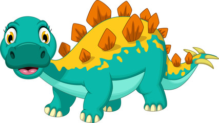 funny stegosaurus cartoon posing