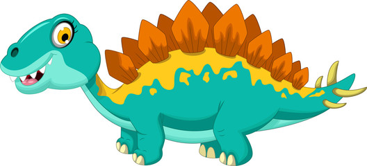 funny stegosaurus cartoon