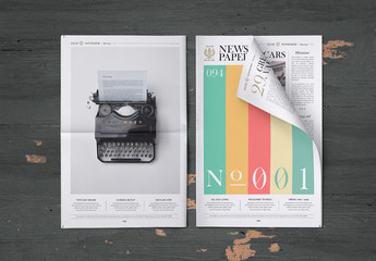 Newspaper Mockup Set