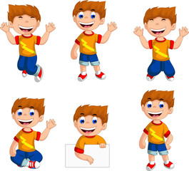 expression of boy cartoon collection