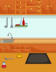 kitchen cartoon for you design