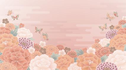 和柄 花 背景