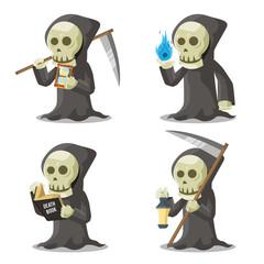 grim reaper set illustration design