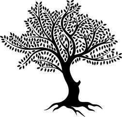 tree silhouette for you design
