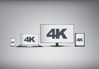 Mobile 4K Screens Illustration