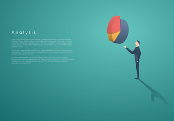 Businessperson and 3D Chart Infographic