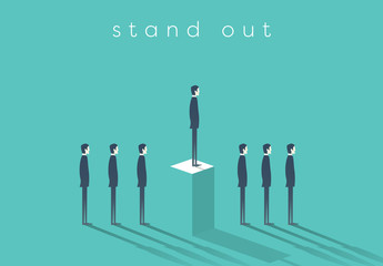 """Stand Out"" in Business Illustration 1"