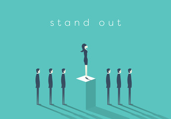"""Stand Out"" in Business Illustration 2"