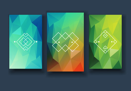 Bright Polygon Smartphone Backgrounds