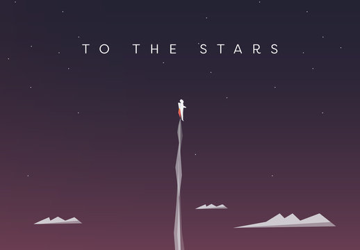"""To the Stars"" Flying Illustration"