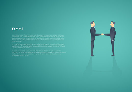 Businessmen Shaking Hands Infographic