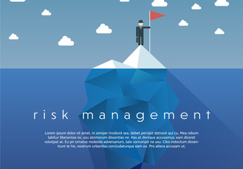 """Risk Management"" Iceberg Illustration"