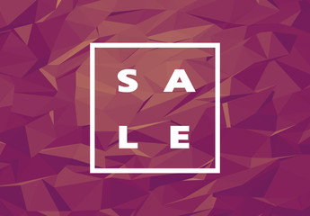 Sale Banner with Polygonal Background