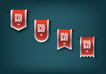 "Four ""Deal of the Day"" Sale Ribbons"