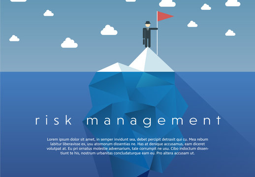 """""""Risk Management"""" Iceberg Illustration"""