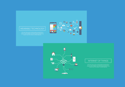 """""""Internet Of Things"""" Web Banners"""