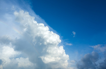 Fototapete - white fluffy clouds in the blue sky