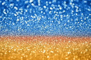 Abstract glitz and glam blue gold sparkle background for Hanukkah, Chanukah or Christmas