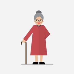 Grandma standing full length smiling