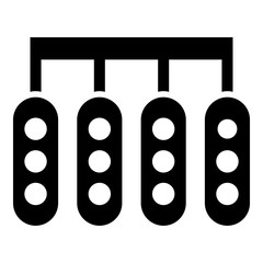 Start lights in race icon. Simple illustration of start lights in race vector icon for web