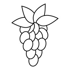 Grapes icon. Outline illustration of grapes vector icon for web