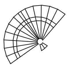 Fan icon. Outline illustration of fan vector icon for web
