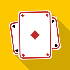 Playing card icon. Flat illustration of playing card vector icon for web
