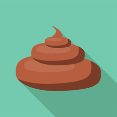 Turd icon. Flat illustration of turd vector icon for web