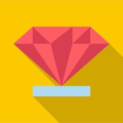 Diamond icon. Flat illustration of diamond vector icon for web