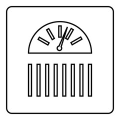 Scale icon. Outline illustration of scale vector icon for web