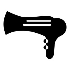 Hairdryer icon. Simple illustration of hairdryer vector icon for web