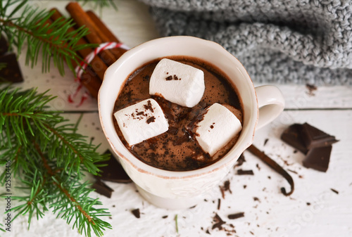 """Winter hot drink - hot chocolate with cinnamon and anise """" Stock ..."""