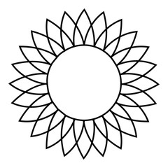 Sunflower icon. Outline illustration of sunflower vector icon for web