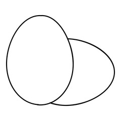 Eggs icon. Outline illustration of eggs vector icon for web