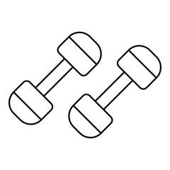Dumbbells icon. Outline illustration of dumbbells vector icon for web