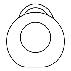 Weight icon. Outline illustration of weight vector icon for web