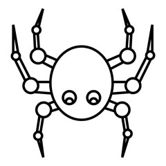 Spider icon. Outline illustration of spider vector icon for web