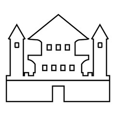Ancient palace icon. Outline illustration of ancient palace vector icon for web