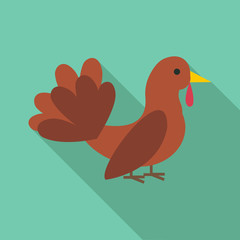Turkey icon. Flat illustration of turkey vector icon for web