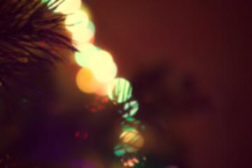 christmas lights, unfocused background