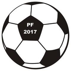 soccer ball, PF 2017, vector icon