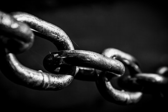 Shiney black and white chain