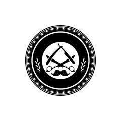 Barber Emblem - Vector Logo Icon