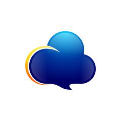 Cloud Talk - Vector Logo Icon
