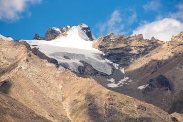 Snow cap over mountain